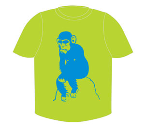Blue Monkey T-Shirt