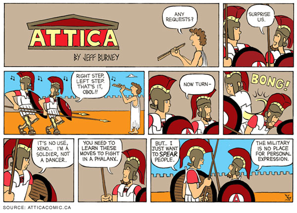 Ancient greek cartoon strip